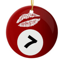 billiards sweetheart multiple messages ornament
