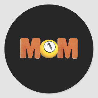 Billiards T-shirts and Gifts For Mom Classic Round Sticker