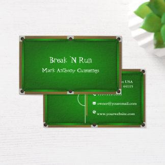 Billiards Table Business Card