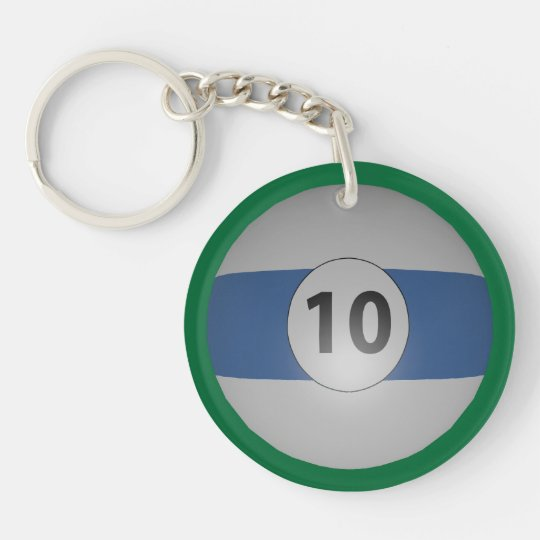 Billiards Ten Ball Keychain