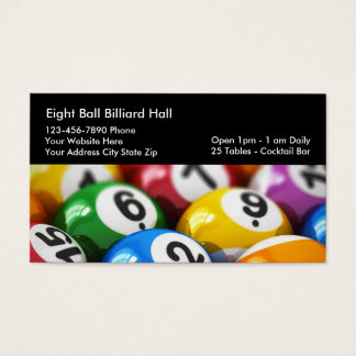Billiards Theme Business Cards
