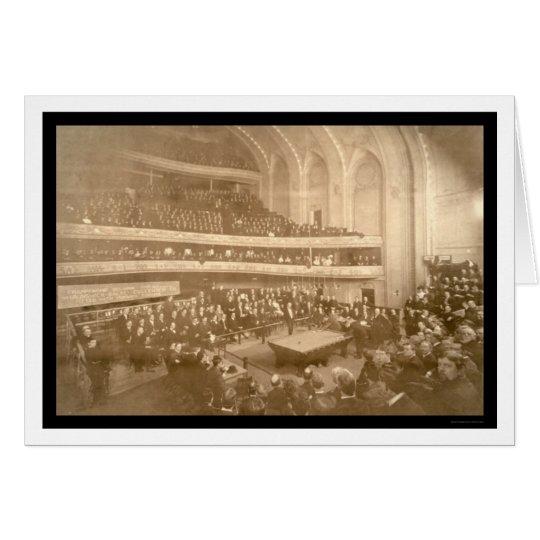Billiards Tournament Photo 1908 Card