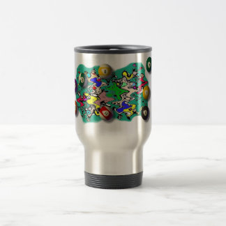 Billiards Travel Mug with Handle