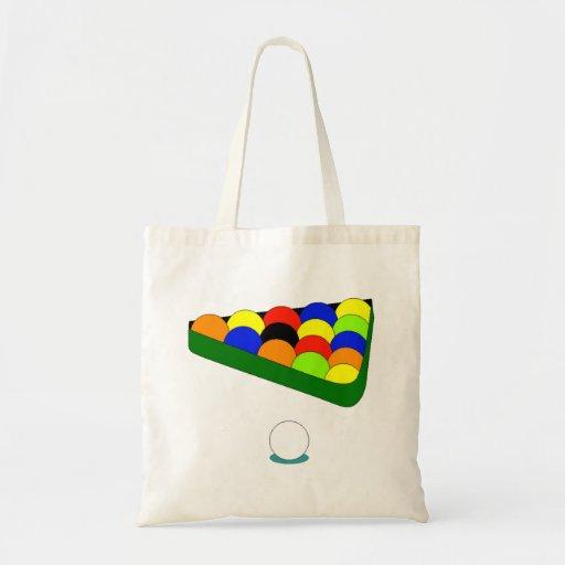 Billiards Triangle Tote Bag