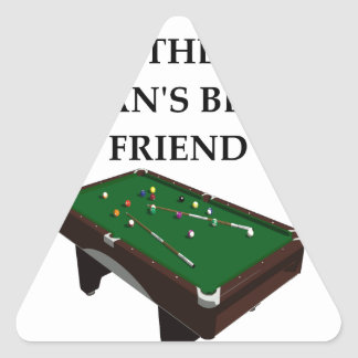 billiards triangle sticker