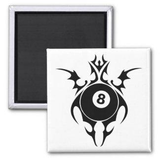 billiards. tribal. 2 inch square magnet