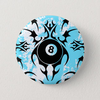 billiards. tribal. button
