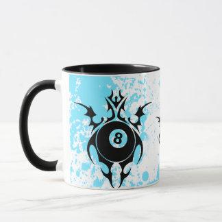 billiards. tribal. mug