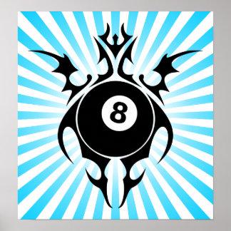 billiards tribalz posters