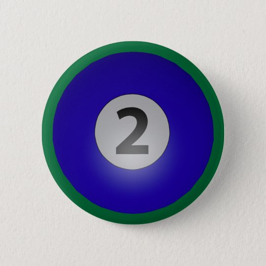 Billiards Two Ball Blue Pinback Button