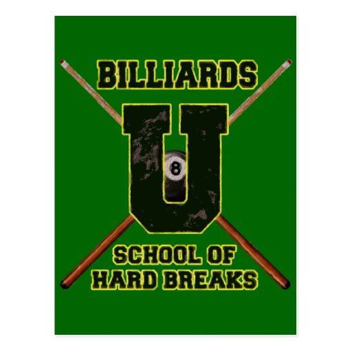 Billiards U School of Hard Breaks Postcard