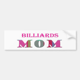 BilliardsMom Car Bumper Sticker