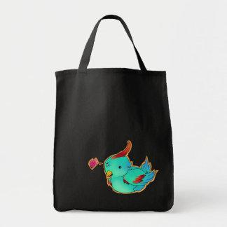 BilliBird Black Tote Grocery Tote Bag
