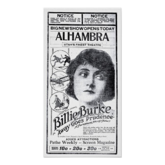 Billie Burke 1920 vintage movie ad poster