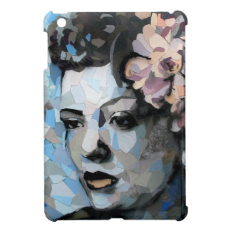 Billie Holiday contemporary portrait with a flower Cover For The iPad Mini