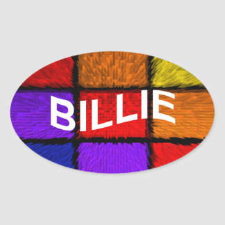BILLIE OVAL STICKER