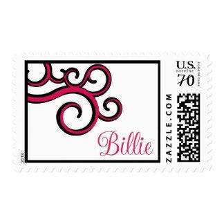 Billie swirl medium size postage