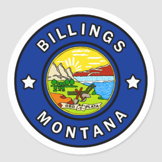 Billings Montana Classic Round Sticker
