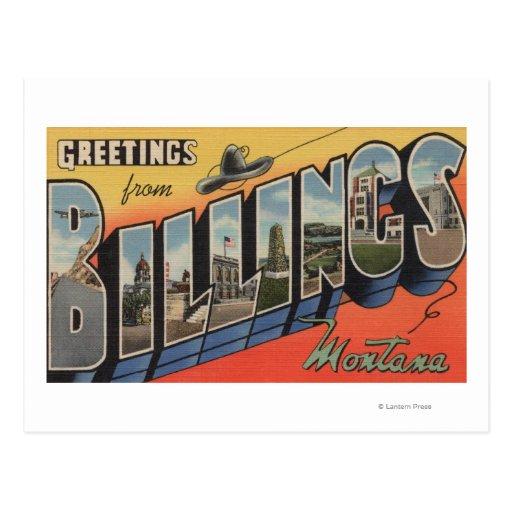 Billings, Montana - Large Letter Scenes 2 Postcard