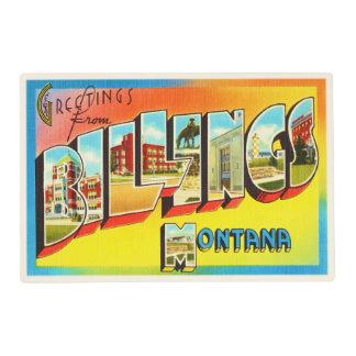 Billings Montana MT Old Vintage Travel Souvenir Placemat