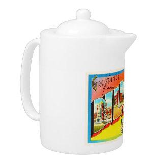 Billings Montana MT Old Vintage Travel Souvenir Teapot