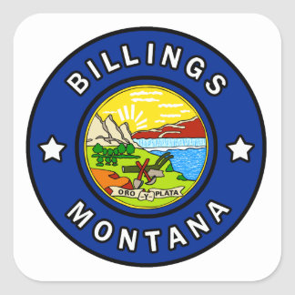 Billings Montana Square Sticker