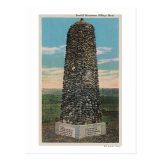 Billings, MT - View of Boothill Monument Postcard