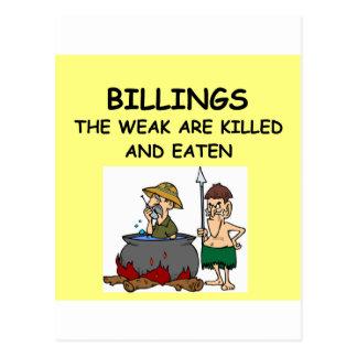 BILLINGS POSTCARD