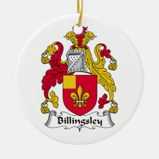 Billingsley Family Crest Double-Sided Ceramic Round Christmas Ornament