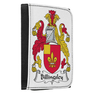 Billingsley Family Crest Leather Tri-fold Wallet