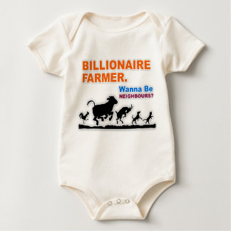 """Billionaire Farmer"" Infant Organic Creeper"
