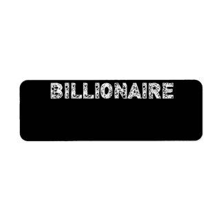 BILLIONAIRE - wowpeer Label
