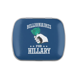BILLIONAIRES FOR HILLARY JELLY BELLY CANDY TINS