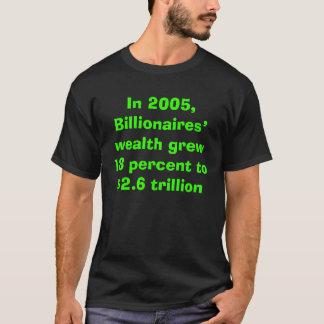 Billionaires wealth grew and Bush cut their taxes  T-Shirt