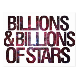 Billions and Billions of Stars Postcards