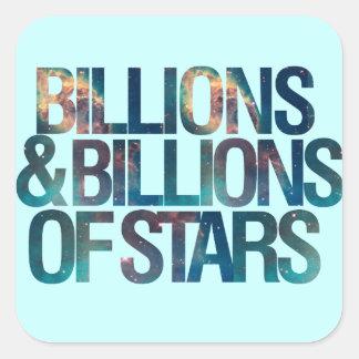 Billions and Billions of Stars Square Stickers