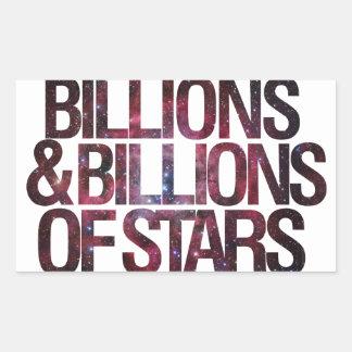 Billions and Billions of Stars Rectangular Stickers