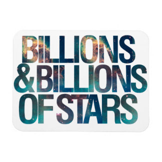 Billions and Billions of Stars Vinyl Magnet