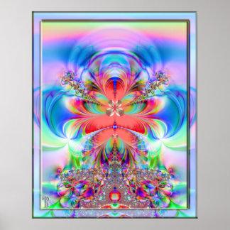 Billowing adelante la impresión del arte poster