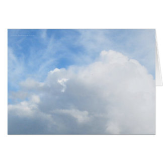 Billowing Clouds Card