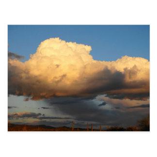 Billowing Clouds in Arizona saguaro cactus Postcards