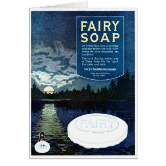 """BILLOWY BUBBLY BATH"" FAIRY SOAP VINTAGE AD GREETING CARD"