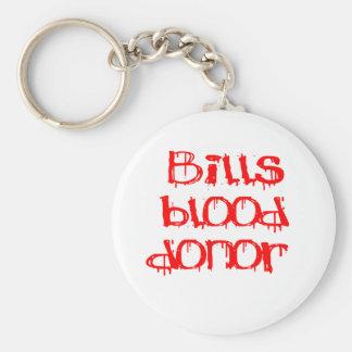 Bills Blood Donor Basic Round Button Keychain