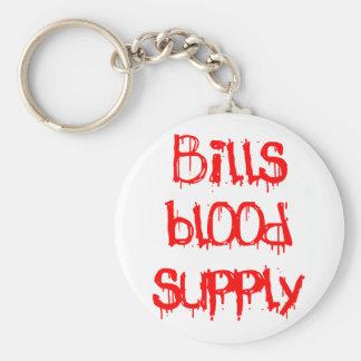 Bills Blood Supply Basic Round Button Keychain