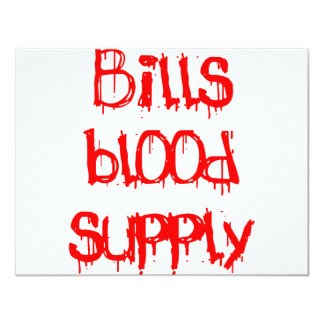 Bills Blood Supply 4.25x5.5 Paper Invitation Card