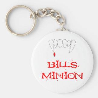 Bills Minion Basic Round Button Keychain