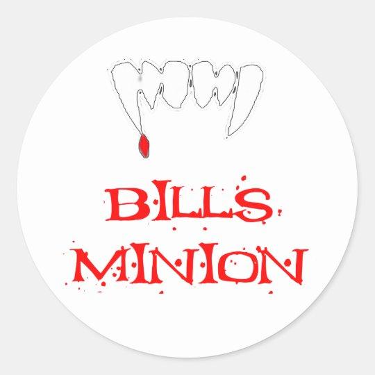 Bills Minion Classic Round Sticker