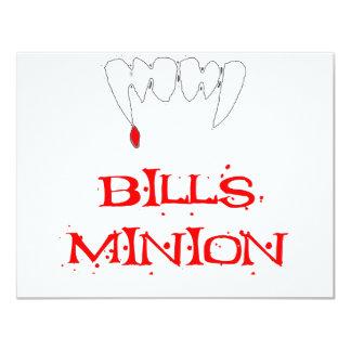 Bills Minion 4.25x5.5 Paper Invitation Card