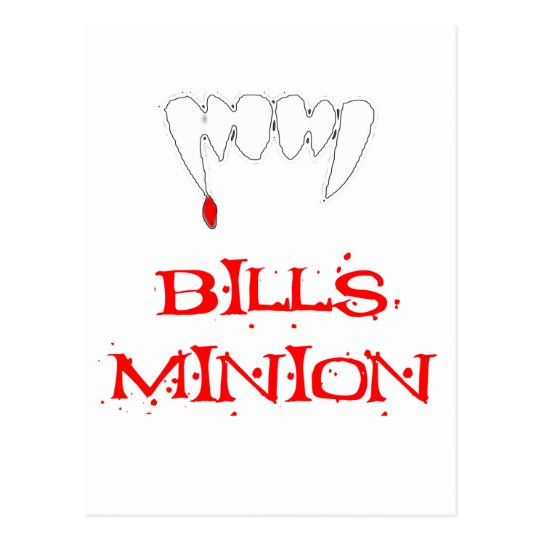Bills Minion Postcard