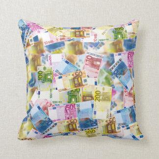 Bills Money Euro Background Polyester Throw Pillow